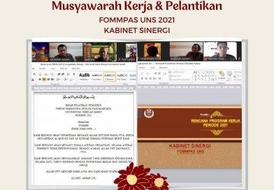 [PRESS RELEASE] Musyawarah Kerja dan Pelantikan FOMMPAS UNS 2021 (Kabinet Sinergi)