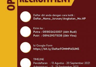 Open Recruitment FOMMPAS UNS 2021/2022