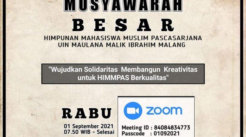 [Press Release] Musyawarah Besar HIMMPAS Ulul Albab