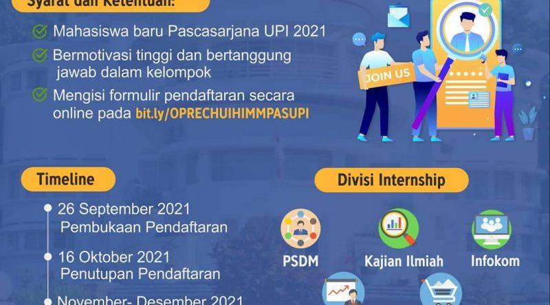 OPEN RECRUITMENT HIMMPAS UPI INTERNSHIP 2021
